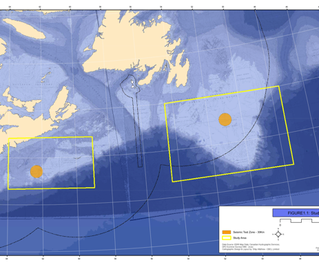 Map with rectangles offshore of Nova Scotia & Newf