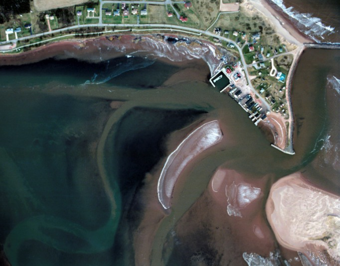 satellite image of Rustico Harbour